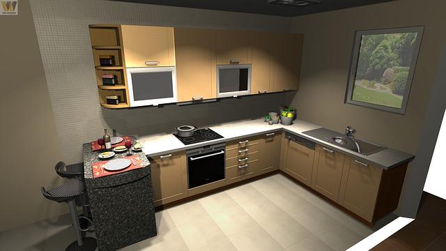 návrh rohové kuchyně