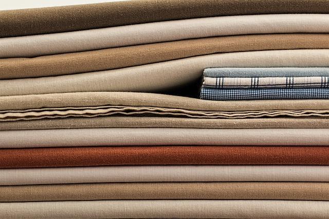 vyžehlené textilie